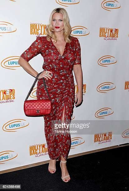 Natasha Henstridge attends the 14th annual Lupus LA Hollywood Bag Ladies Luncheon at The Beverly Hilton Hotel on November 18 2016 in Beverly Hills...