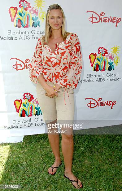 Natasha Henstridge during 'A Time For Heroes' Sponsored by Disney to Benefit the Elizabeth Glaser Pediatric AIDS Foundation Arrivals at Wadsworth...