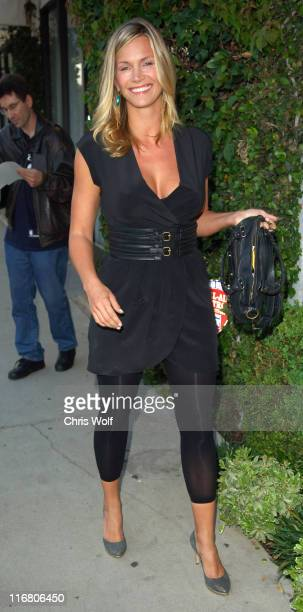 Natasha Henstridge during Celebrity Sighting at Diesel Flagship Store Opening May 30 2007 at Diesel Flagship Store in West Hollywood California...