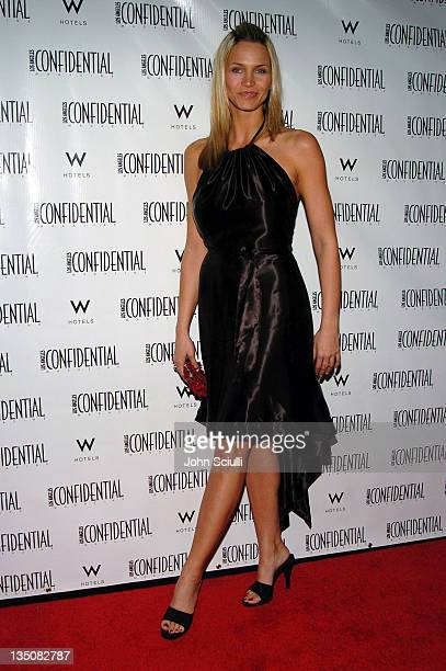Natasha Henstridge during LA Confidential Magazine's PreOscar Party at W Hotel Los Angeles Westwood in Los Angeles California United States