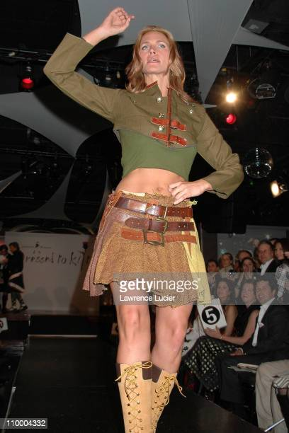 Natasha Henstridge during Johnnie Walker Presents Dressed to Kilt Arrivals and Runway at Copacabana in New York City New York United States