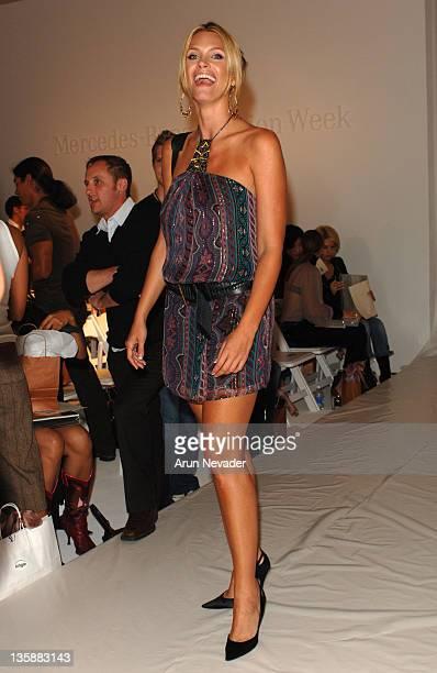 Natasha Henstridge during MercedesBenz Spring 2006 LA Fashion Week at Smashbox Studios Single Front Row at Smashbox Studios in Culver City California...