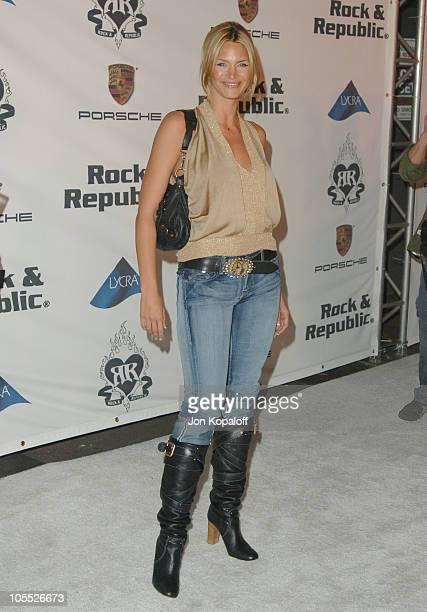 Natasha Henstridge during Rock Republic 'Love Rocks' Fashion Show Spring 2006 at Sony Studios in Culver City California United States
