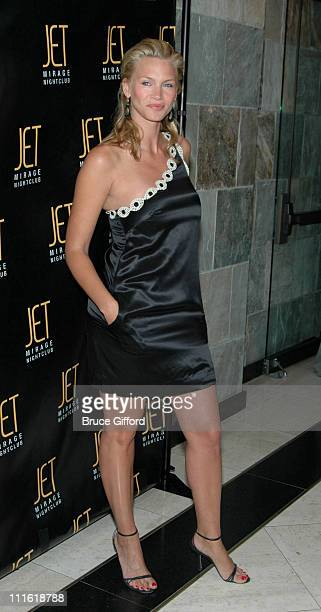 Natasha Henstridge during Victoria's Secret Las Vegas Store One Year Anniversary Celebration at Jet Mirage Nightclub in Las Vegas Nevada United States