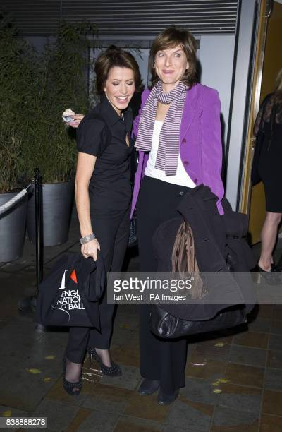 Natasha Kaplinsky and Fiona Bruce arrive for a gala performance of the Nutcracker at the Coliseum in London