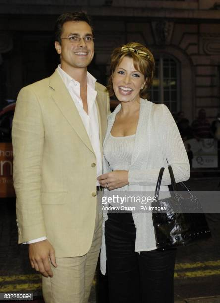 Natasha Kaplinsky and her husband Justin Bower arrive for the premiere of The Queen at the Curzon mayfair central London