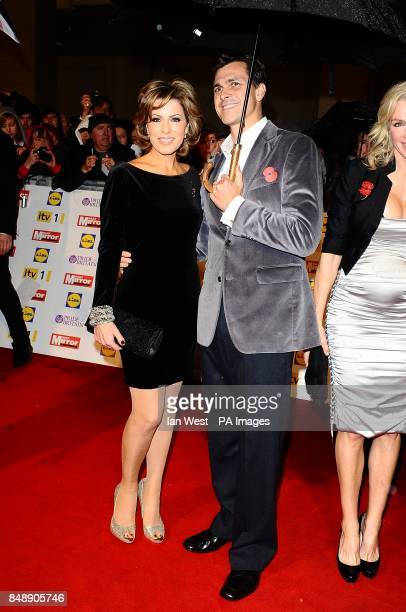 Natasha Kaplinsky and husband Justin Bower at the 2012 Pride of Britain awards at Grosvenor House London