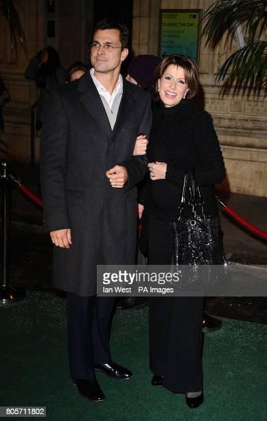 Natasha Kaplinsky and Justin Bower arrive at the gala opening night of Varekai by the Cirque Du Soleil at Royal Albert Hall in London