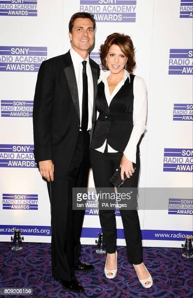 Natasha Kaplinsky and Justin Bower arriving for the Sony Radio Academy Awards 2011 at the Grosvenor House Hotel London