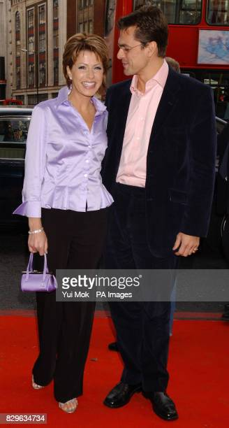 Natasha Kaplinsky and Justin Bowyer arrive