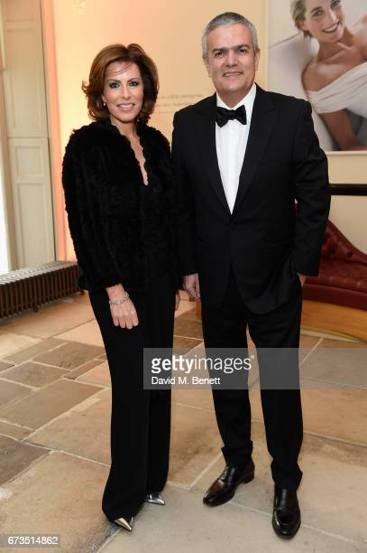 Natasha Kaplinsky and Ricardo Guadalupe attend Hublot 'Classic Fusion Chronograph Prince's Trust' launch at The Orangery Kensington Palace on April...