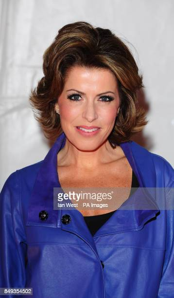 Natasha Kaplinsky arrives at the opening night of the Cirque de Soleil's new show Kooza at the Royal Albert Hall in London
