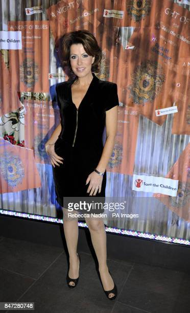 Natasha Kaplinsky arrives at the Save The Children's 'A Night of Blues' event at The Roundhouse Camden London
