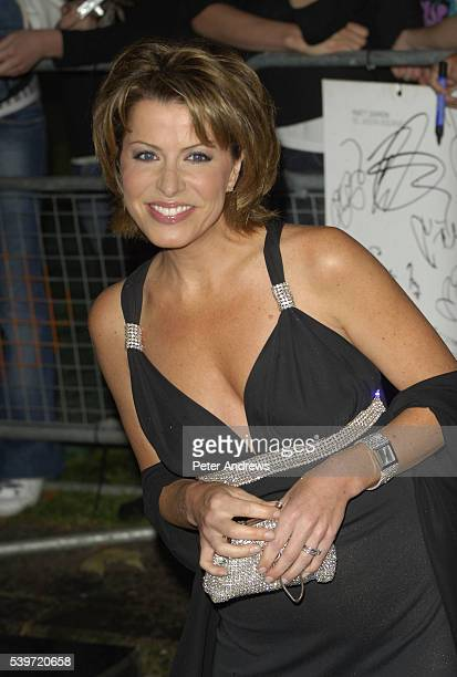 Natasha Kaplinsky arrives at the UK premiere of 'The Bourne Ultimatum' at Odeon Leicester Square