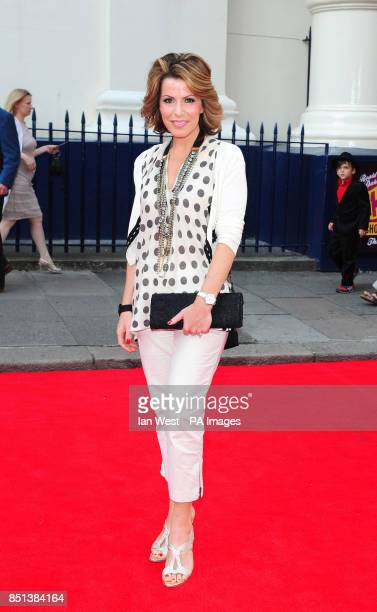 Natasha Kaplinsky arriving at the opening night of Charlie and the Chocolate Factory at the Theatre Royal Drury Lane in London