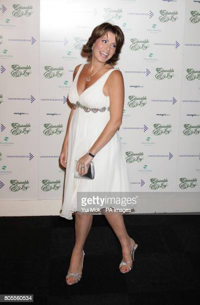 Natasha Kaplinsky arriving for the Emeralds and Ivy Ball in aid of Cancer Research UK at Battersea Evolution in south London