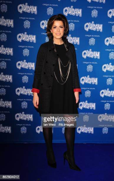 Natasha Kaplinsky attending the opening night of the Cirque du Soleil production of Quidam at the Royal Albert Hall London