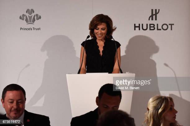 Natasha Kaplinsky attends Hublot 'Classic Fusion Chronograph Prince's Trust' launch at The Orangery Kensington Palace on April 26 2017 in London...