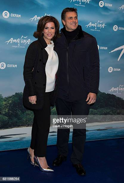 Natasha Kaplinsky attends the blue carpet of the Cirque du Soleil Amaluna press night on January 12 2017 in London United Kingdom
