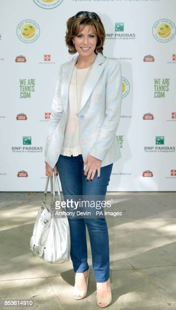Natasha Kaplinsky attends the opening day of the annual BNP Paribas Tennis Classic VIP event at the Hurlingham Club London