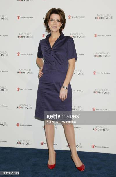 Natasha Kaplinsky during the launch of aid agency Save the Childrens No Child Born to Die campaign at the Lincoln Centre Lincoln Inn Fields London