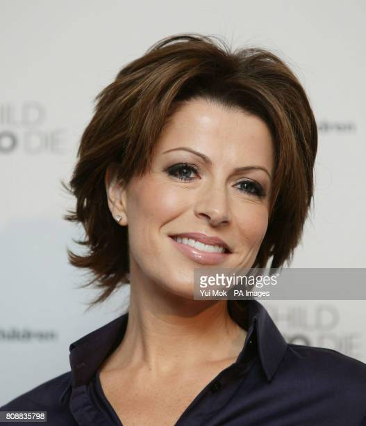 Natasha Kaplinsky during the launch of aid agency Save the Children's No Child Born to Die campaign at the Lincoln Centre Lincoln Inn Fields London