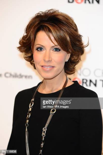 Natasha Kaplinsky launches the Save The Children Free From Hunger No Child Born To Die campaign at the Park Village Studio in London