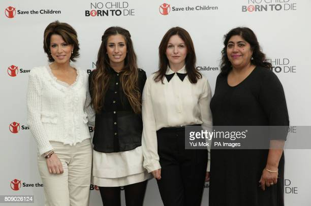 Natasha Kaplinsky Stacey Solomon Dervla Kirwan and Gurinder Chadha during the launch of Save The Children's 'Missing Midwives' report at the Royal...