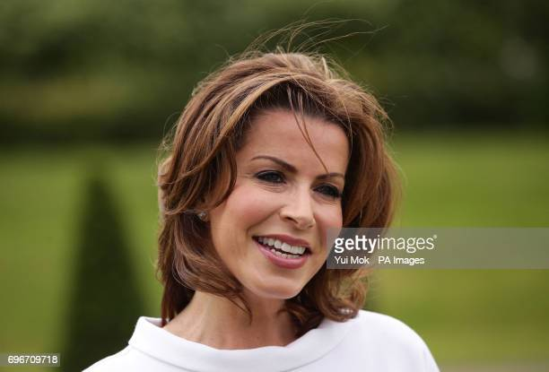 Natasha Kaplinsky who has been awarded an OBE in the Queen's Birthday Honours List outside Kensington Palace London