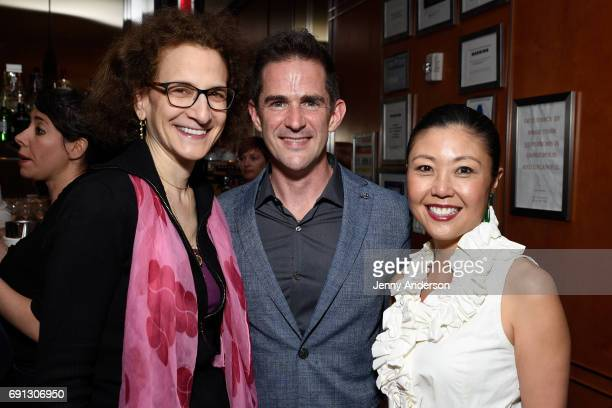 Natasha Katz and Andy Blankenbuehler and Mimi Lien attend Designed To Celebrate A Toast To The 2017 Tony Awards Creative Arts Nominees at The Lamb's...