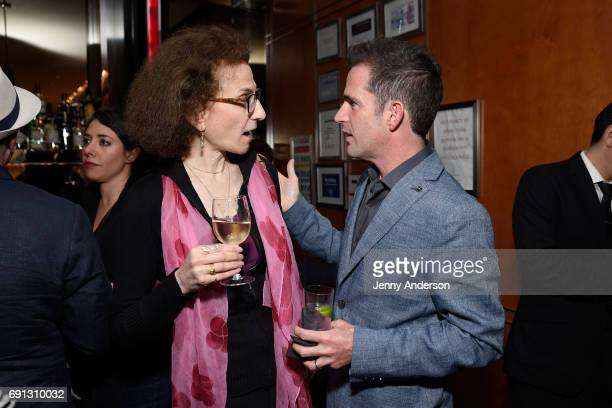 Natasha Katz and Andy Blankenbuehler attend Designed To Celebrate A Toast To The 2017 Tony Awards Creative Arts Nominees at The Lamb's Club at the...