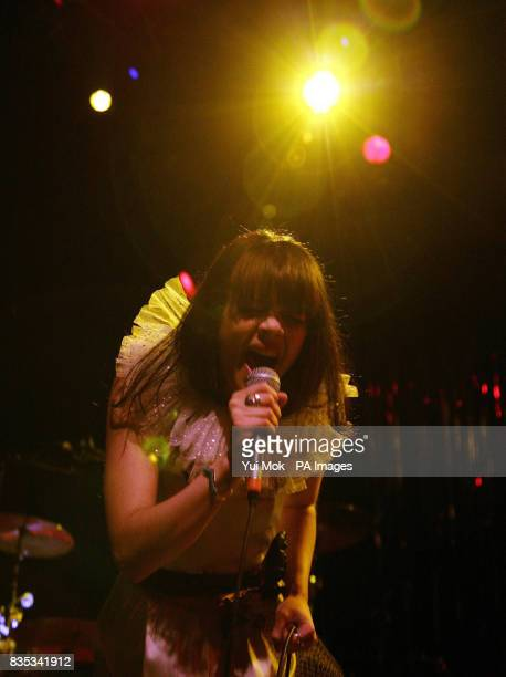 Natasha Khan aka Bat for Lashes performing on stage at Shepherds Bush Empire in west London