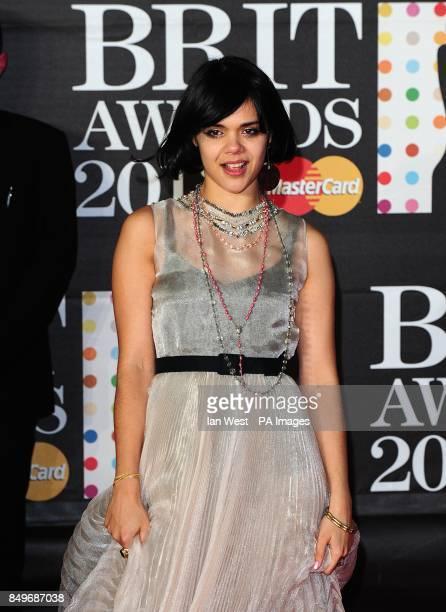 Natasha Khan arriving for the 2013 Brit Awards at the O2 Arena London