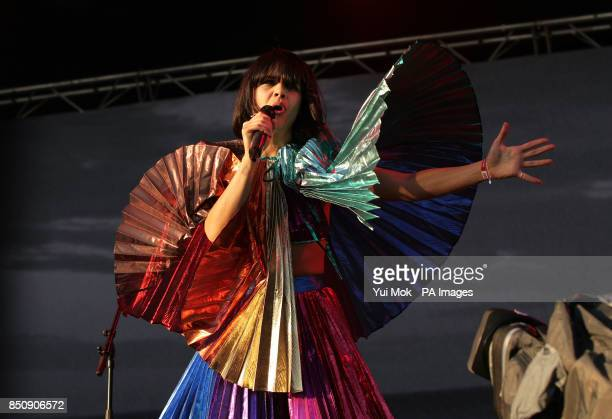 Natasha Khan of Bat for Lashes performing at the Field Day Festival in Victoria Park east London