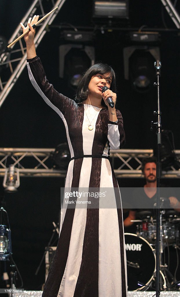 Natasha Khan of Bat For Lashes performs at day 3 of the Lowlands Festival on August 18, 2013 in Biddinghuizen, Netherlands.
