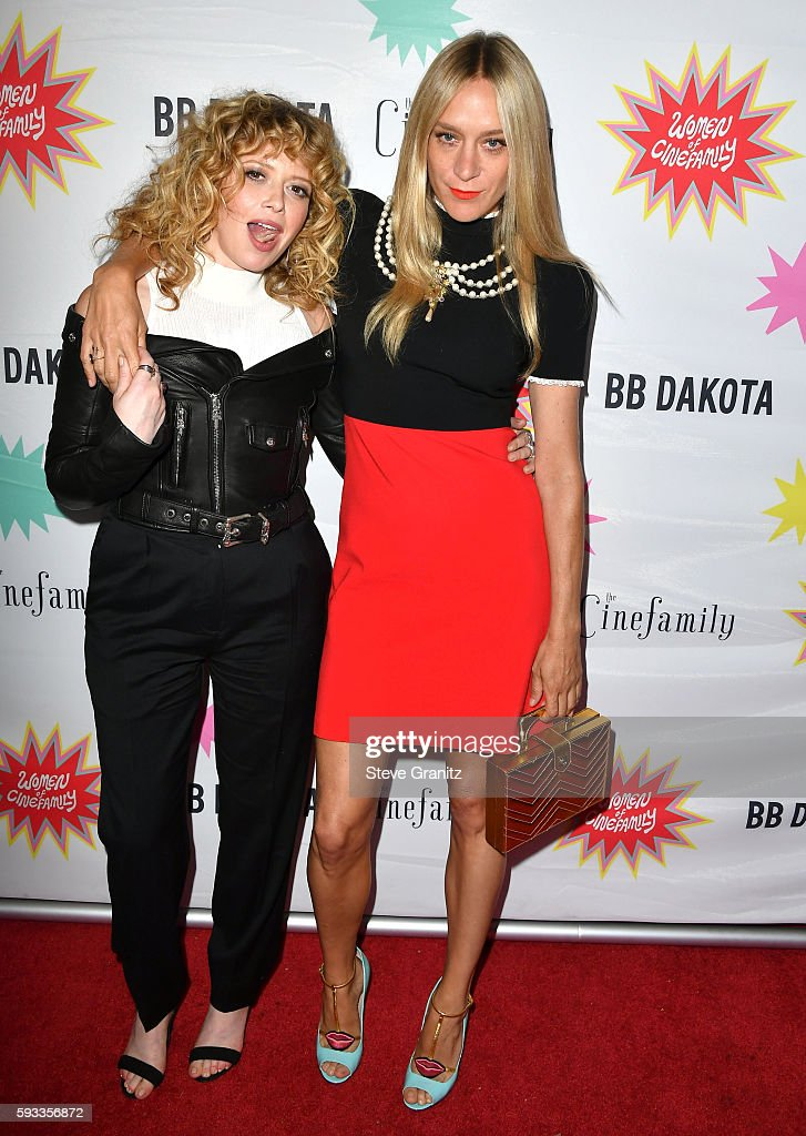 Natasha Lyonne and Chloe Sevigny arrives at the Premiere Of IFC Midnight's 'Antibirth' at Cinefamily on August 21 2016 in Los Angeles California