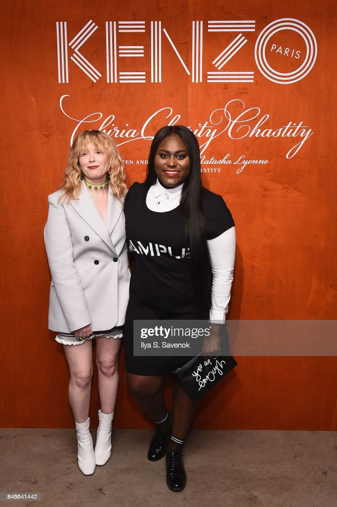 Natasha Lyonne (L) and Danielle Brooks attend KENZO, Humberto Leon, Carol Lim And Natasha Lyonne Premiere 'Cabiria, Charity, Chastity' In New York City at Public Arts on September 13, 2017 in New York City.