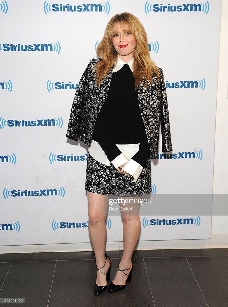 Natasha Lyonne attends celebrities visit SiriusXM on August 25 2016 at SiriusXM Studio on August 25 2016 in New York City