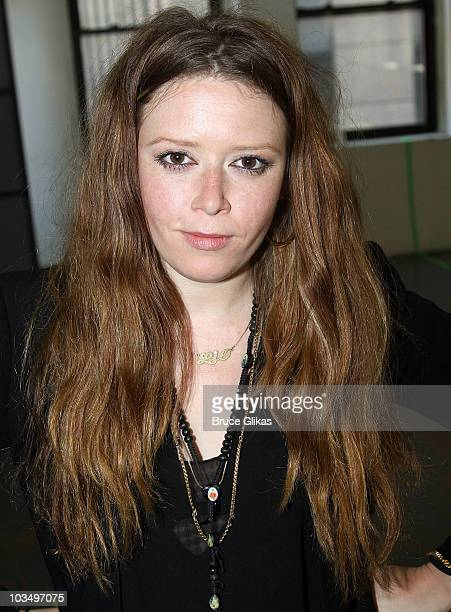 Natasha Lyonne poses at the Roundabout Theatre Company's 'Tigers Be Still' cast photo call at The Roundabout Rehearsal Studios on August 19 2010 in...