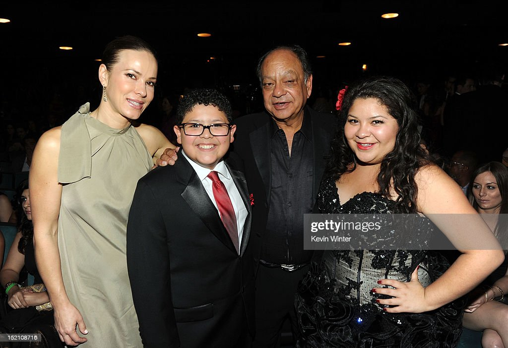 Natasha Marin, actor Rico Rodriguez, actor Cheech Marin and actress Raini Rodriguez attend the 2012 NCLR ALMA Awards at Pasadena Civic Auditorium on September 16, 2012 in Pasadena, California.