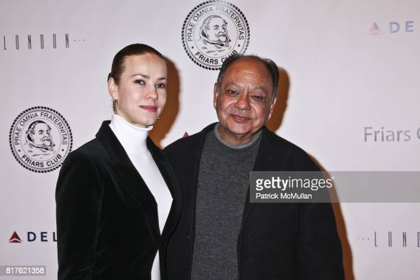 Natasha Marin and Cheech Marin attend THE NEW YORK FRIARS CLUB ROAST OF QUENTIN TARANTINO at Friars Club on December 1 2010 in New York City