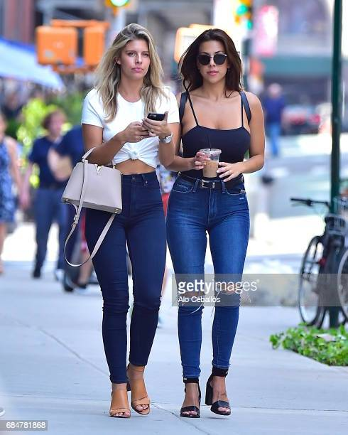 Natasha Oakley and Devin Brugman are seen in Soho on May 18 2017 in New York City