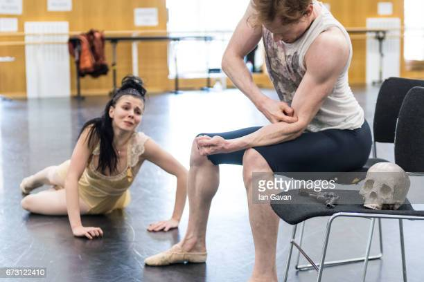 Natasha Osipova and Edward Watson from the Royal Ballet rehearse 'Mayerling' at The Royal Opera House on April 25 2017 in London United Kingdom The...
