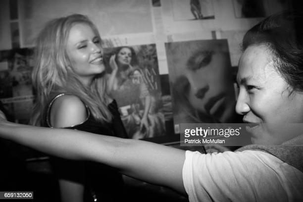 Natasha Poly and Alexander Wang attend RADAR ENTERTAINMENT THE LAST MAGAZINE Toast Fashion Week at Studio 385 Broadway on February 20 2009 in New...