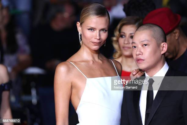 Natasha Poly and Jason Wu attends the 'In The Fade ' screening during the 70th annual Cannes Film Festival at Palais des Festivals on May 26 2017 in...