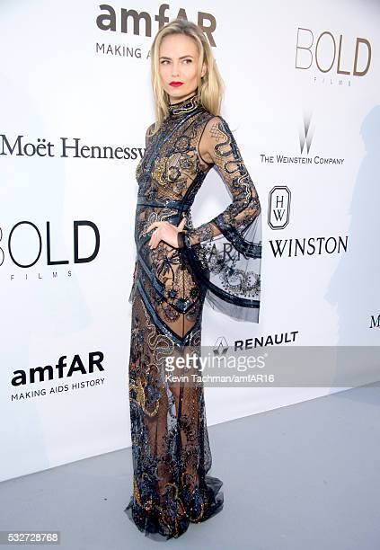 Natasha Poly attends the amfAR's 23rd Cinema Against AIDS Gala at Hotel du CapEdenRoc on May 19 2016 in Cap d'Antibes France