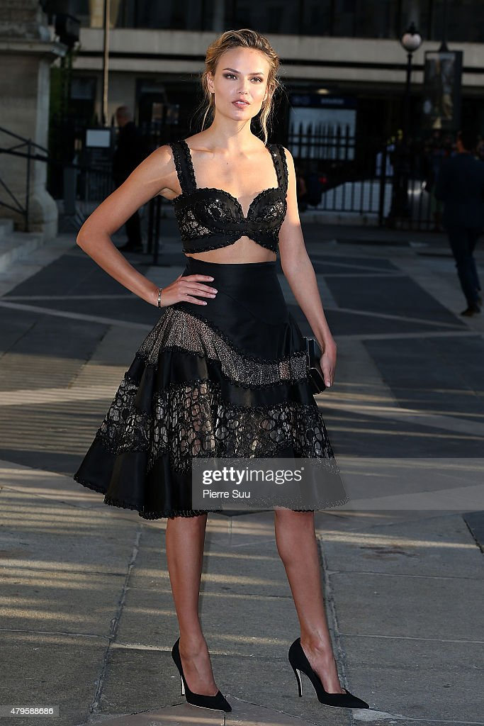 Natasha Poly attends the Atelier Versace show as part of Paris Fashion Week Haute Couture Fall/Winter 2015/2016 on July 5, 2015 in Paris, France.