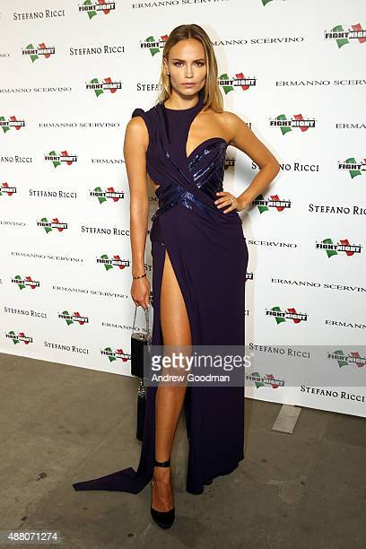 Natasha Poly attends the Celebrity Fight Night gala at Palazzo Vecchio during 2015 Celebrity Fight Night Italy benefiting the Andrea Bocelli...