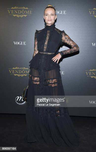 Natasha Poly attends the Irving Penn Exhibition Private Viewing Hosted by Vogue as part of the Paris Fashion Week Womenswear Spring/Summer 2018 on...