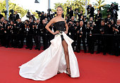 Natasha Poly attends the Premiere of 'Carol' during the 68th annual Cannes Film Festival on May 17 2015 in Cannes France